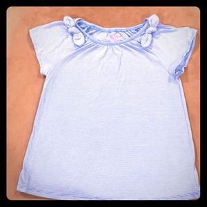 Short sleeve girl's blue t-shirt